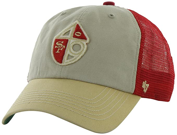 97c2084e026bf2 NFL San Francisco 49ers '47 Brand McNally Clean Up Adjustable Hat, Red, One
