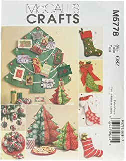 Amazoncom McCalls Patterns M3777 Christmas Decorating One Size