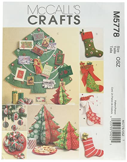 Amazon Mccalls Patterns M5778 Holiday Decorations One Size