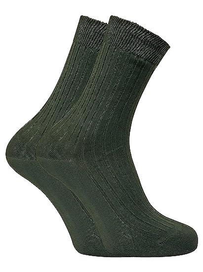Dr Hunter - 2 pares hombre andar trekking verde finos 100 algodon calcetines para verano: Amazon.es: Ropa y accesorios