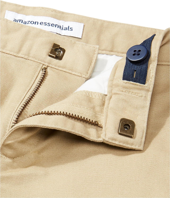 Essentials Flat Front Uniform Chino Short Ni/ños