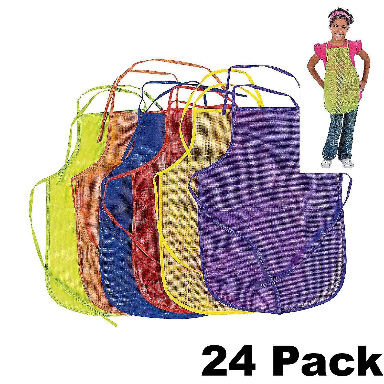 12 Pack Assorted Children's Artists Aprons Kitchen Classroom (2 PACK) USA