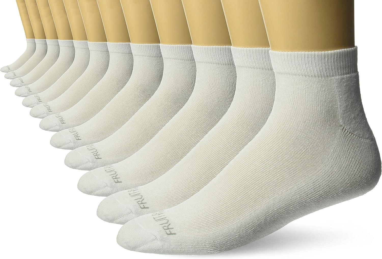 Fruit of the Loom Men's 12 Pair Cushioned Low Cut Sock