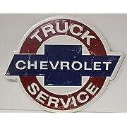 CHEVROLET Truck Service Metal Sign 14  embossed die cut chevy vintage style dealer sign