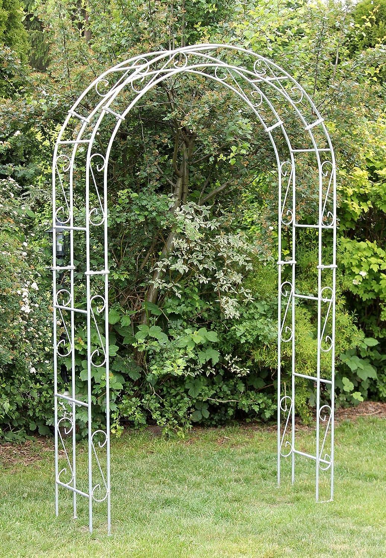 DanDiBo - Arco para Rosales (galvanizado, Ancho 140 cm, Arco Redondo, galvanizado en Caliente, Resistente a la Intemperie, Macizo): Amazon.es: Jardín