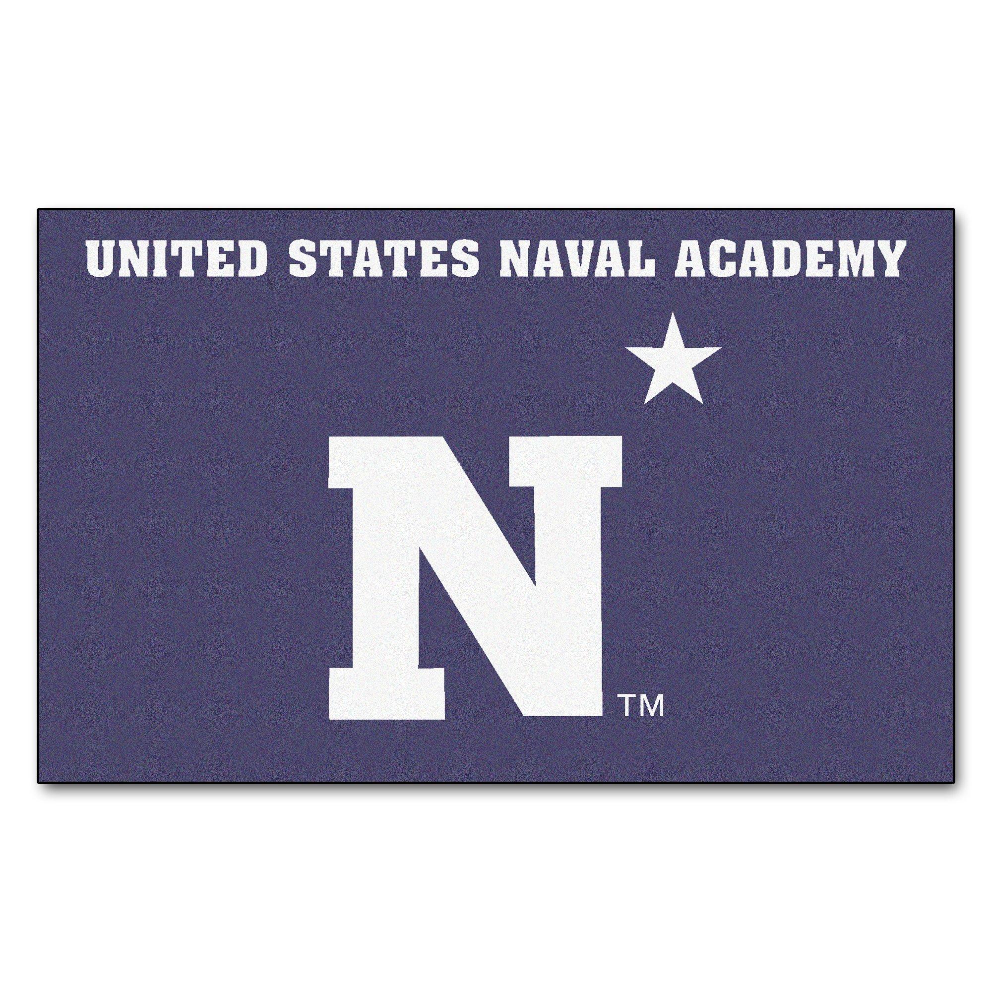 FANMATS NCAA US Naval Academy Midshipmen Nylon Face Ultimat Rug