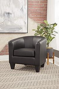 Grafton Enzo Barrel Chair, Black