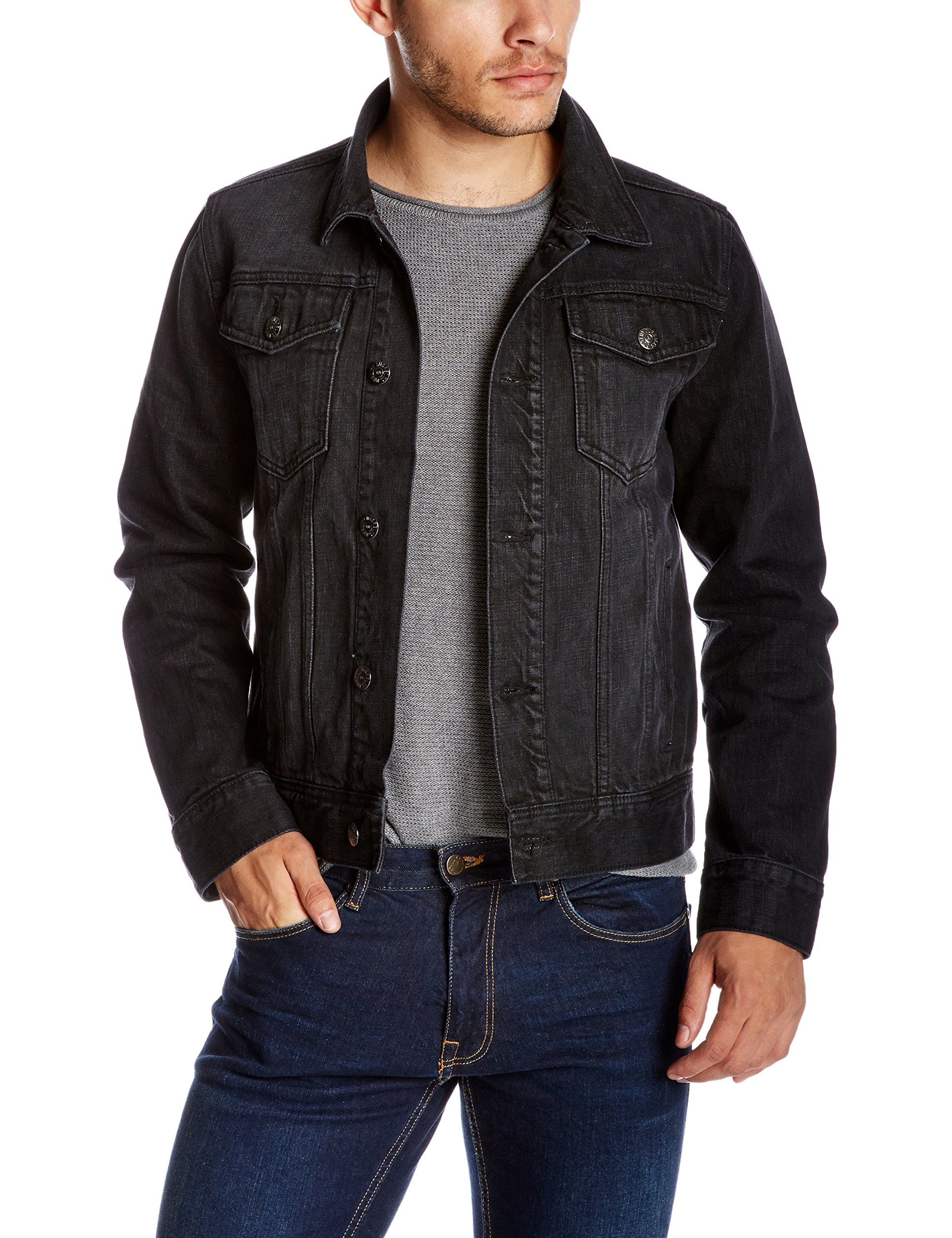 Quality Durables Co. Men's Regular Fit Jean Jacket 3XL Black by Quality Durables Co.