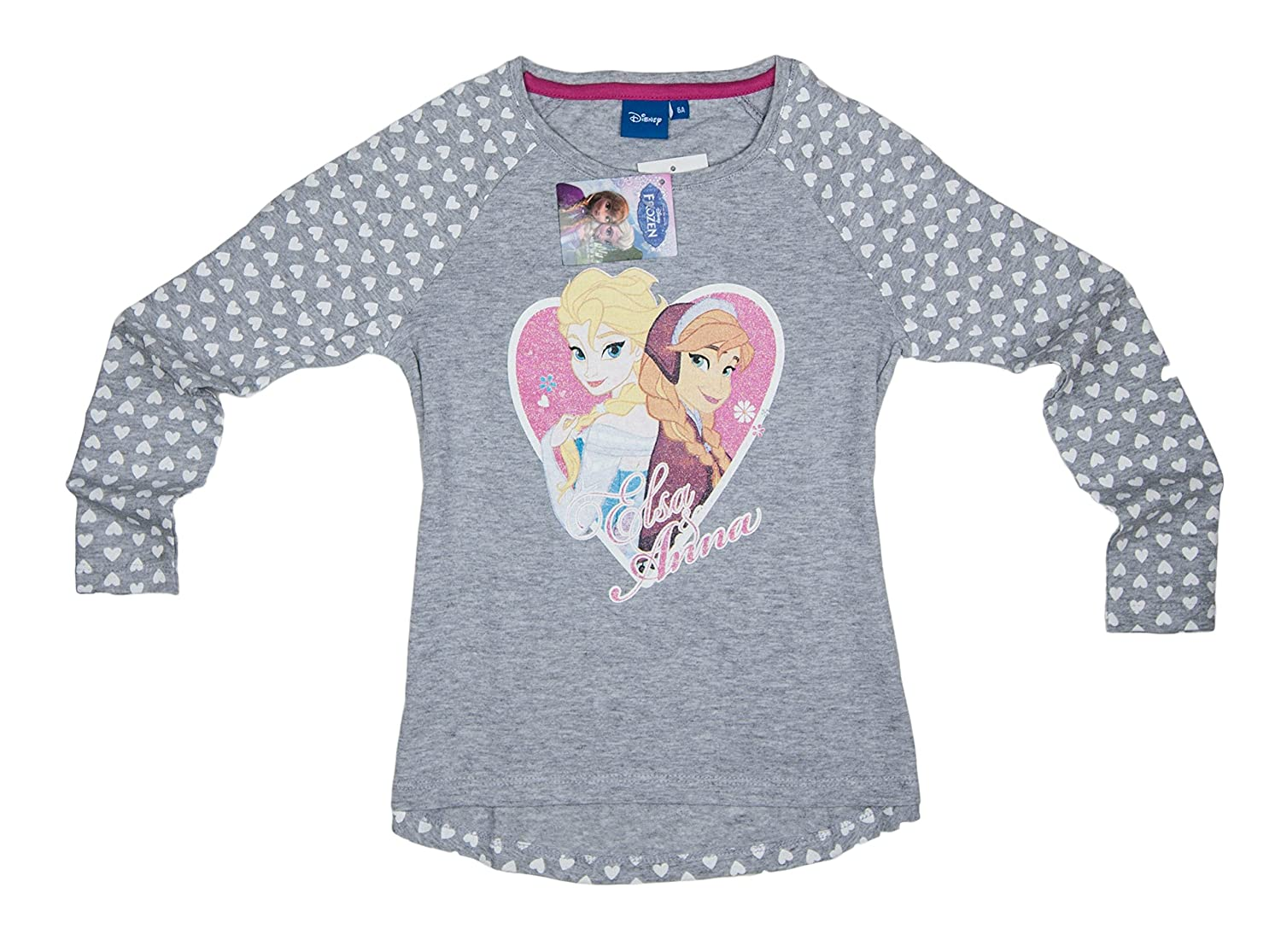 Disney Official Frozen Girls Tops Sisters Anna Elsa Long Sleeve T Shirt Kids Top