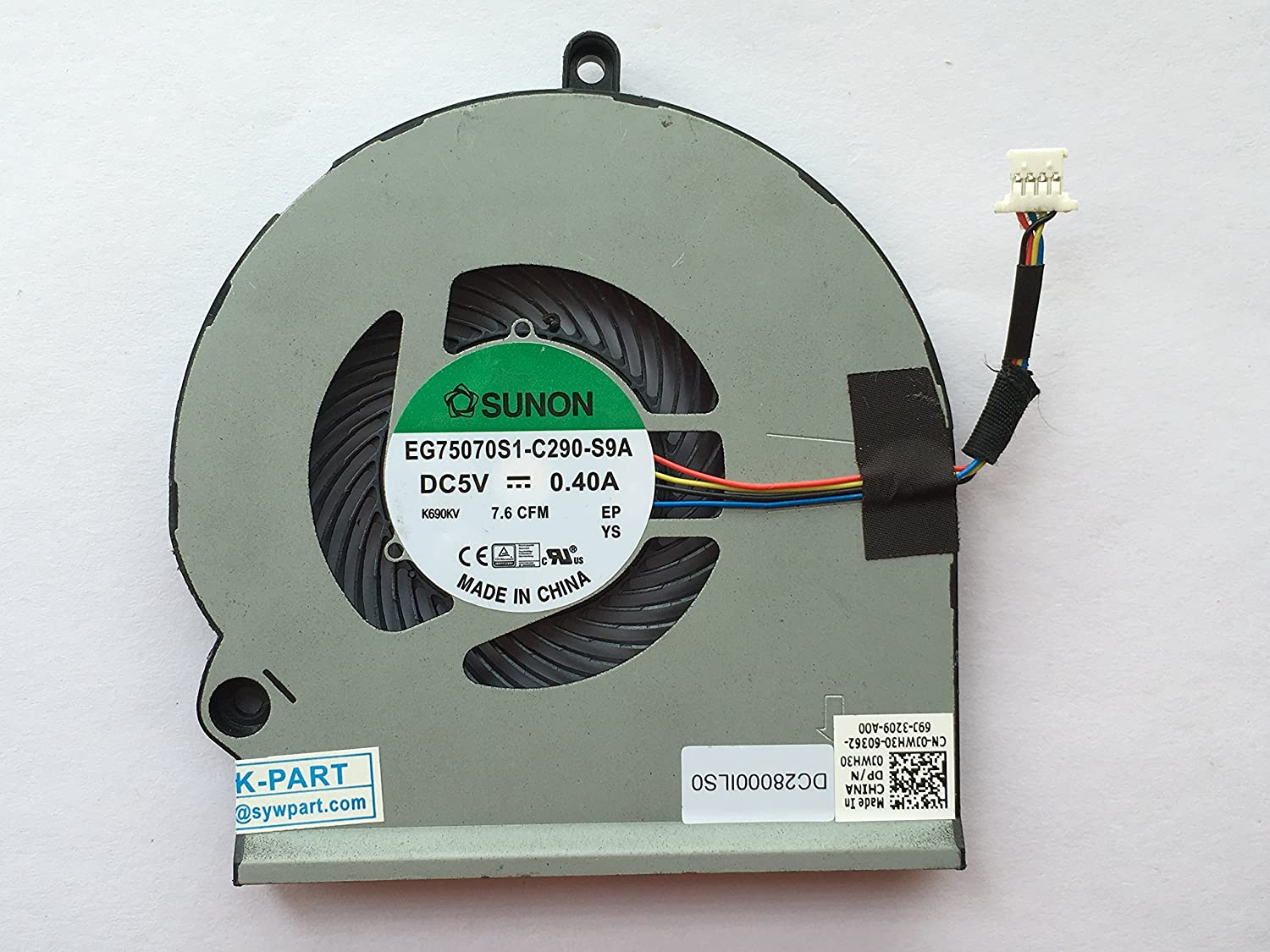 HK-part Replacement Fan for Dell Alienware 15 R3 Cooling Fan Right Side DC28000ILS0 DP/N 0JWH30