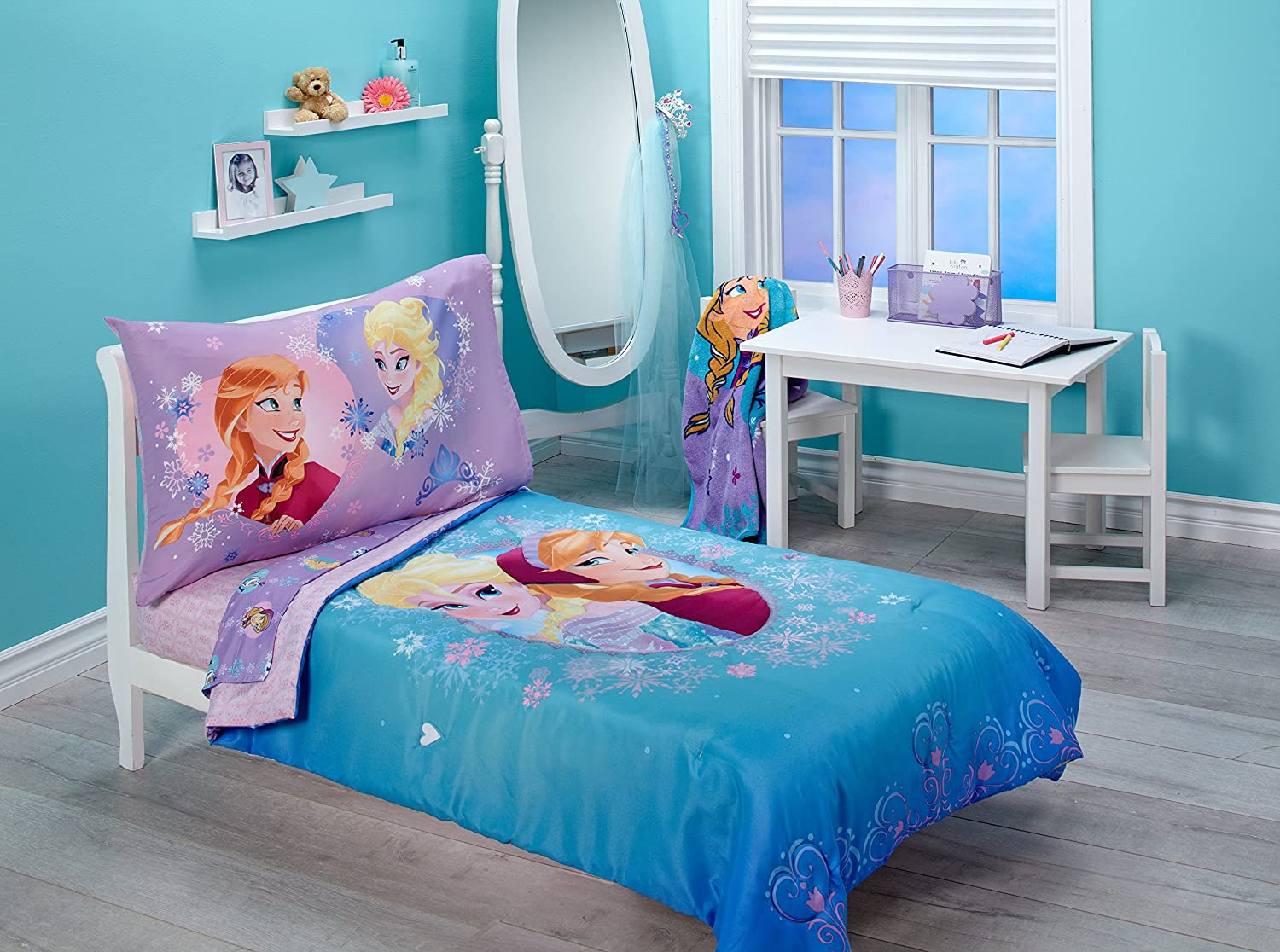 Toy story toddler bedding - Amazon Com Disney Frozen Magical Sisters 4 Piece Toddler Bedding Set Pink Purple Blue Baby