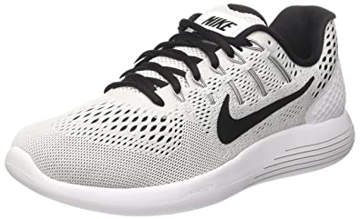 dae6cda99cb23 Nike Men s Lunarglide 8 White Black Running Shoe Size 8