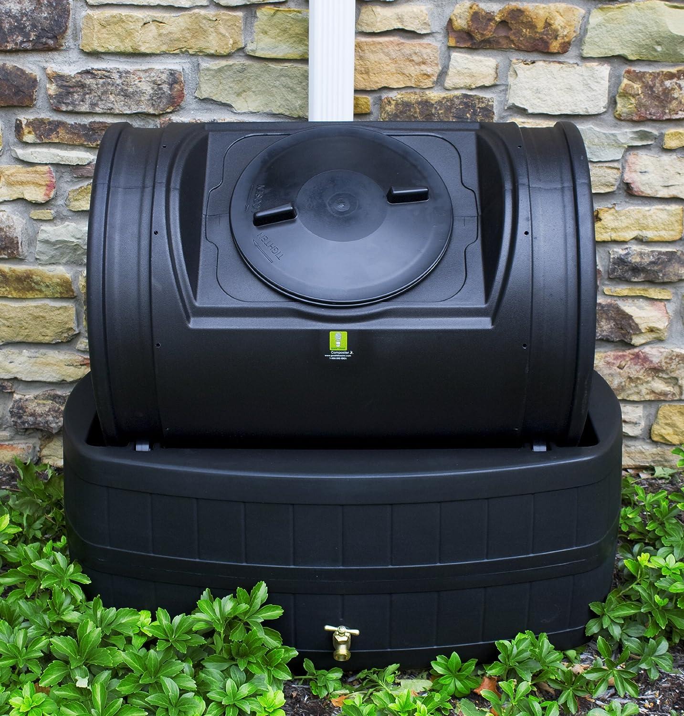 Buenas Ideas Lluvia Barril y Asistente de Compost híbrida ...