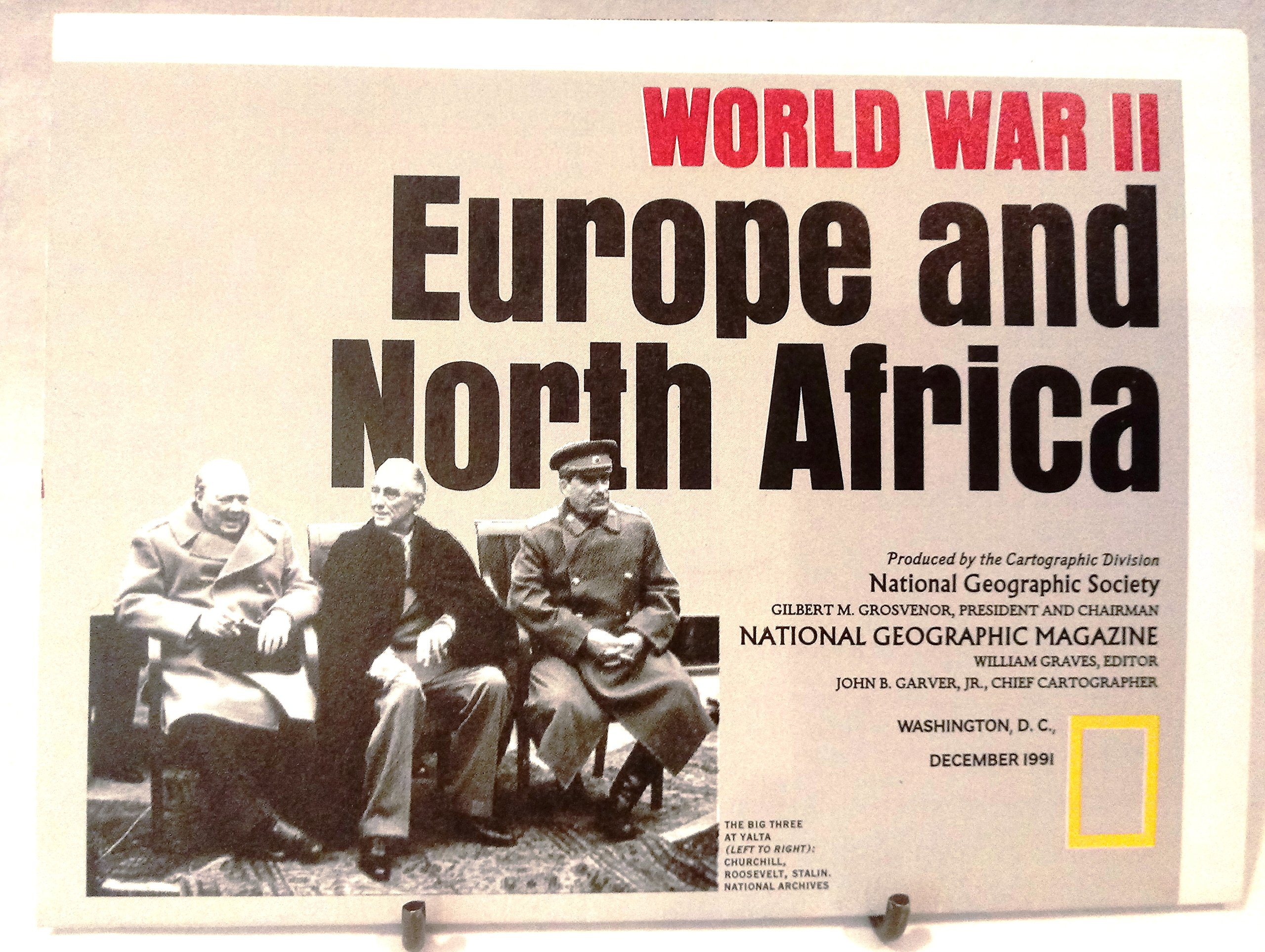 National Geographic Map - World War II: Europe and North ...
