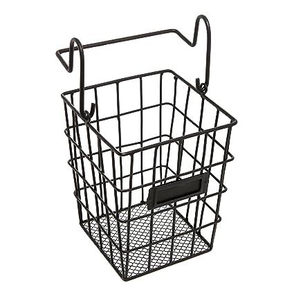 Modular Black Metal Mesh Wire Hanging Kitchen U0026 Dining Utensils Storage  Basket / Bathroom Toiletries Holder