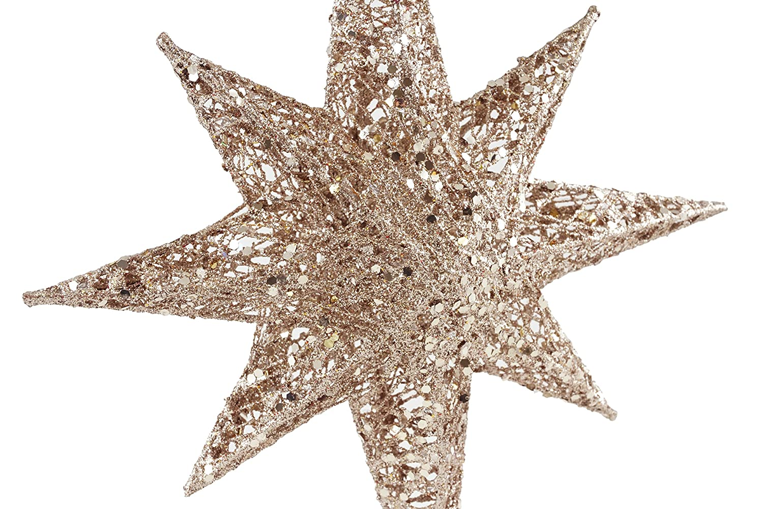 Creative Co-op Glistening North Star Christmas Tree Topper ...