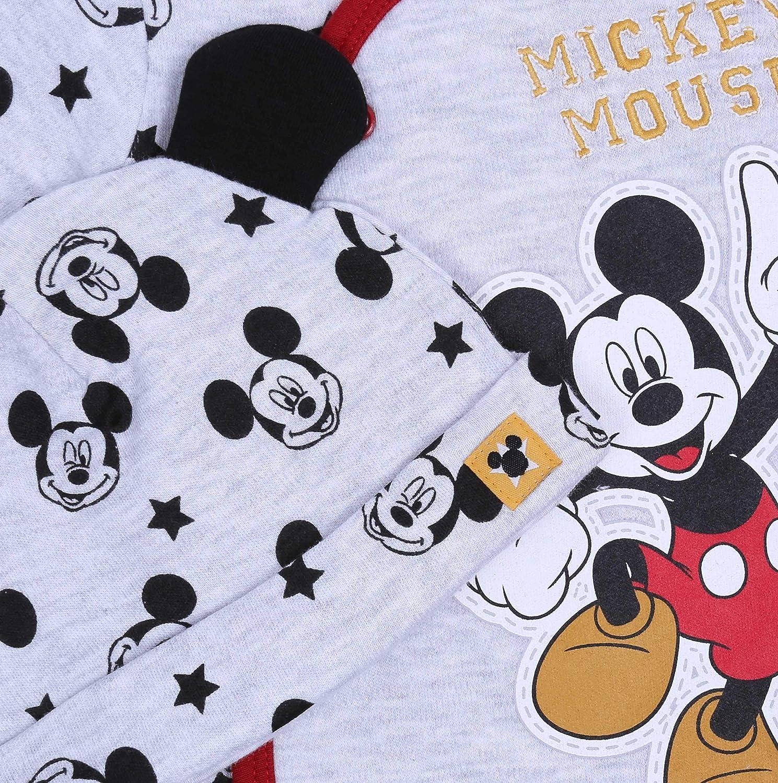 Pijama de beb/é Gris con Estrellas Mickey Mouse Disney