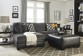 Awesome Amazon Com Kumasi Comtemporary Black Sectional Sofa And Gmtry Best Dining Table And Chair Ideas Images Gmtryco