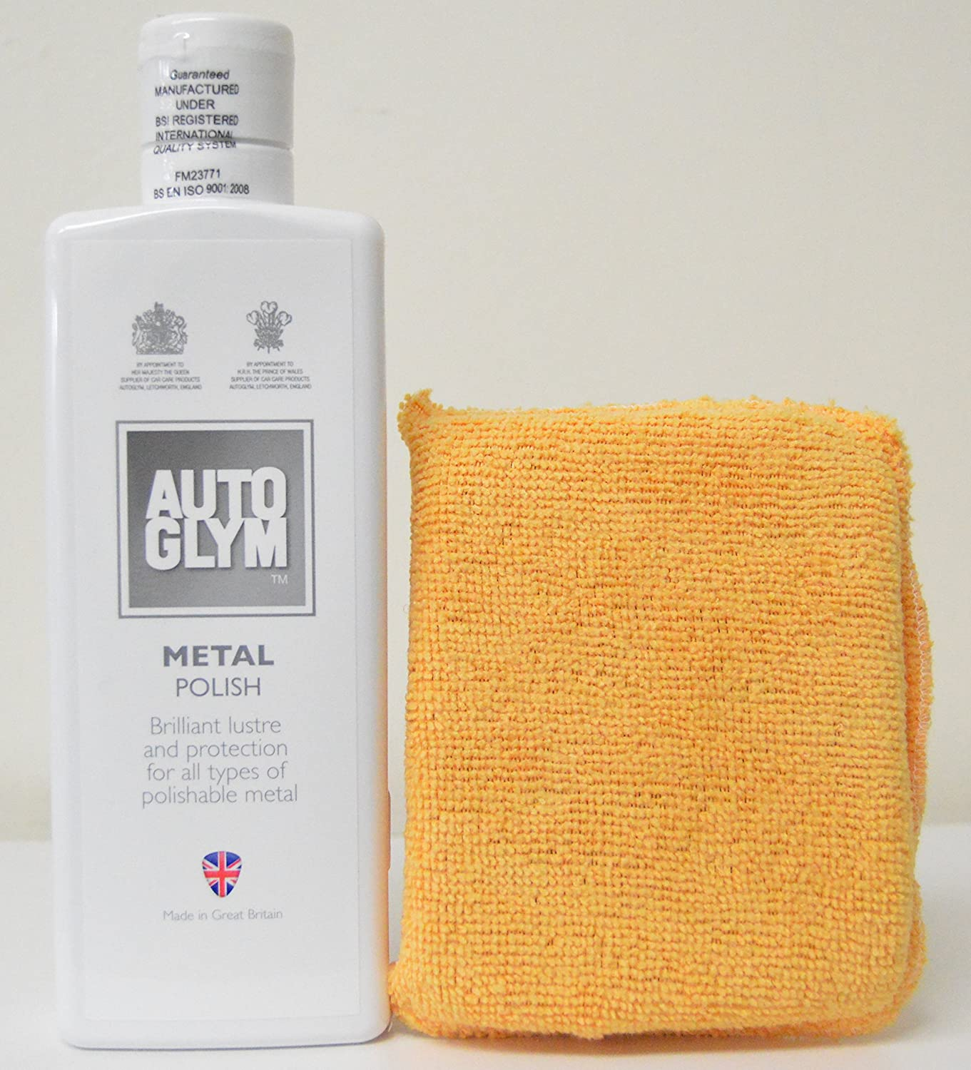 AutoGlym Metal Polish 325ml with Free Microfiber Applicator