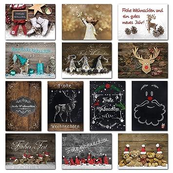 Sonder-Angebot 2018: SET 13 x 2 Weihnachts-Postkarten 10,5 x 14,8 cm ...