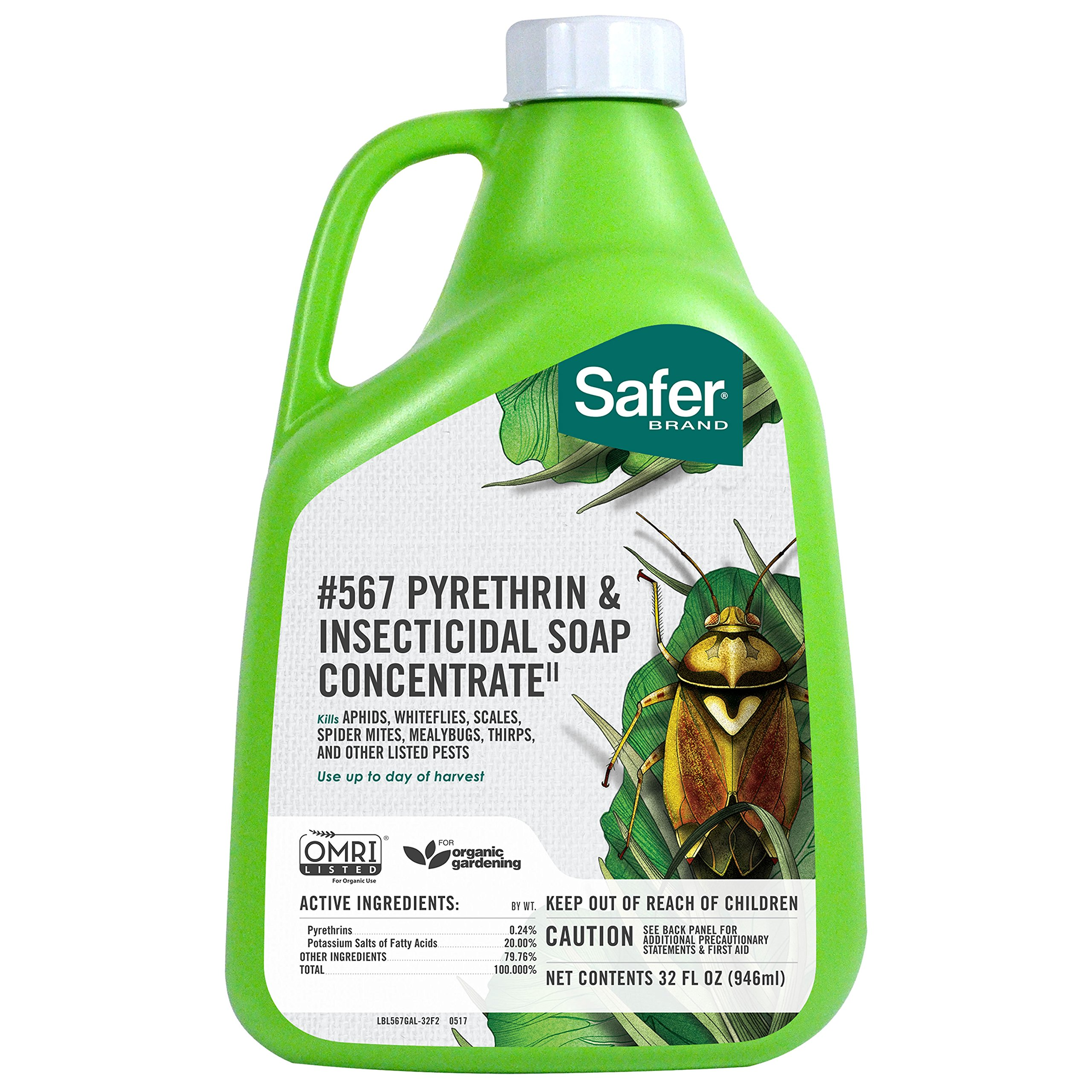 Safer Brand Insecticidal Soap & Pyrethrin Concentrate, 32-Ounce by Safer Brand