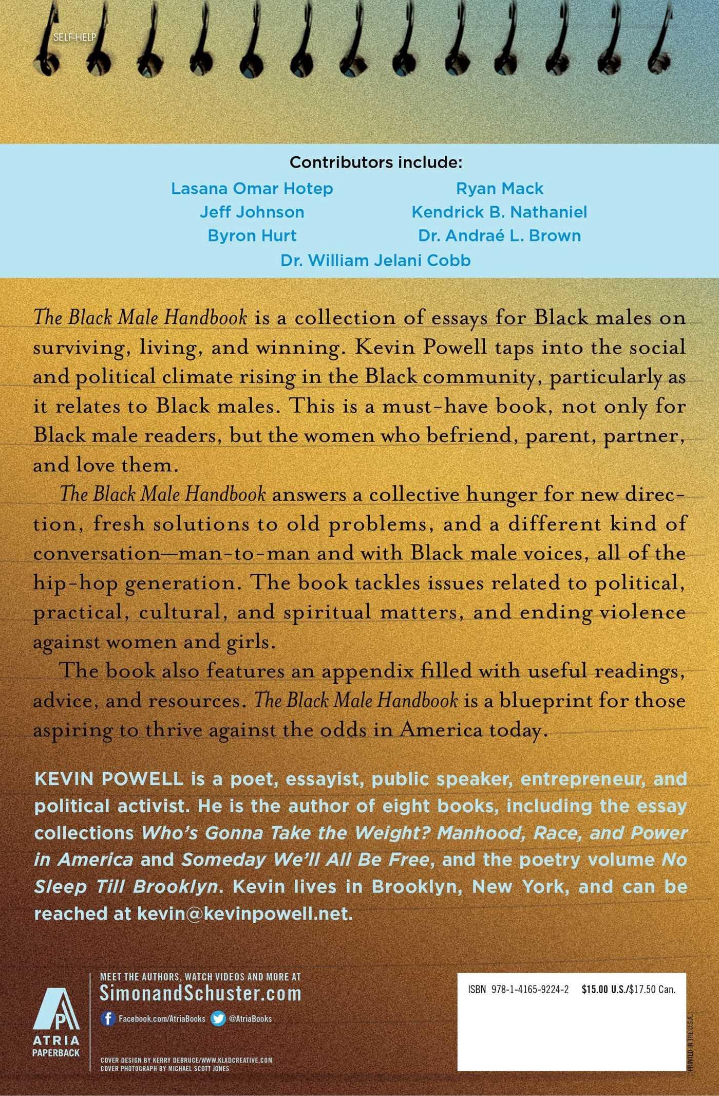 The black male handbook a blueprint for life kevin powell hill the black male handbook a blueprint for life kevin powell hill harper 9781416592242 amazon books malvernweather Gallery