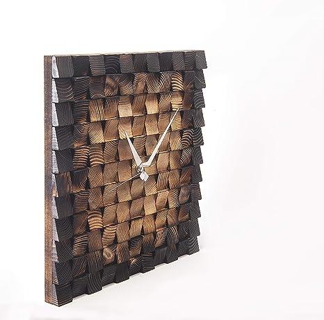 Amazon Com Jizayn Handmade Nature Wooden Wall Clock Decorative Wall