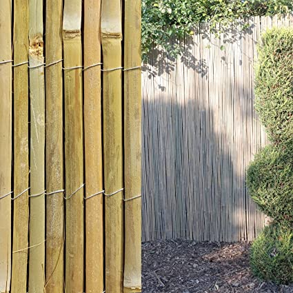 Natural Peeled Reed Screening Roll Garden Fencing Screen Fence Panel Wooden 4M