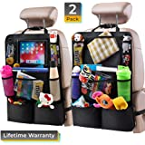 "Helteko Backseat Car Organizer - Kick Mats Back Seat Protector with 10"" Tablet Holder - Car Back Seat Organizer for Kids…"