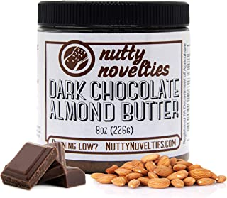 product image for Nutty Novelties Dark Chocolate Almond Butter - High Protein, Sweet Almond Butter - All-Natural, Dark Chocolate Almond Butter Free of Cholesterol & Preservatives - Vegan Almond Butter - 8 Ounces