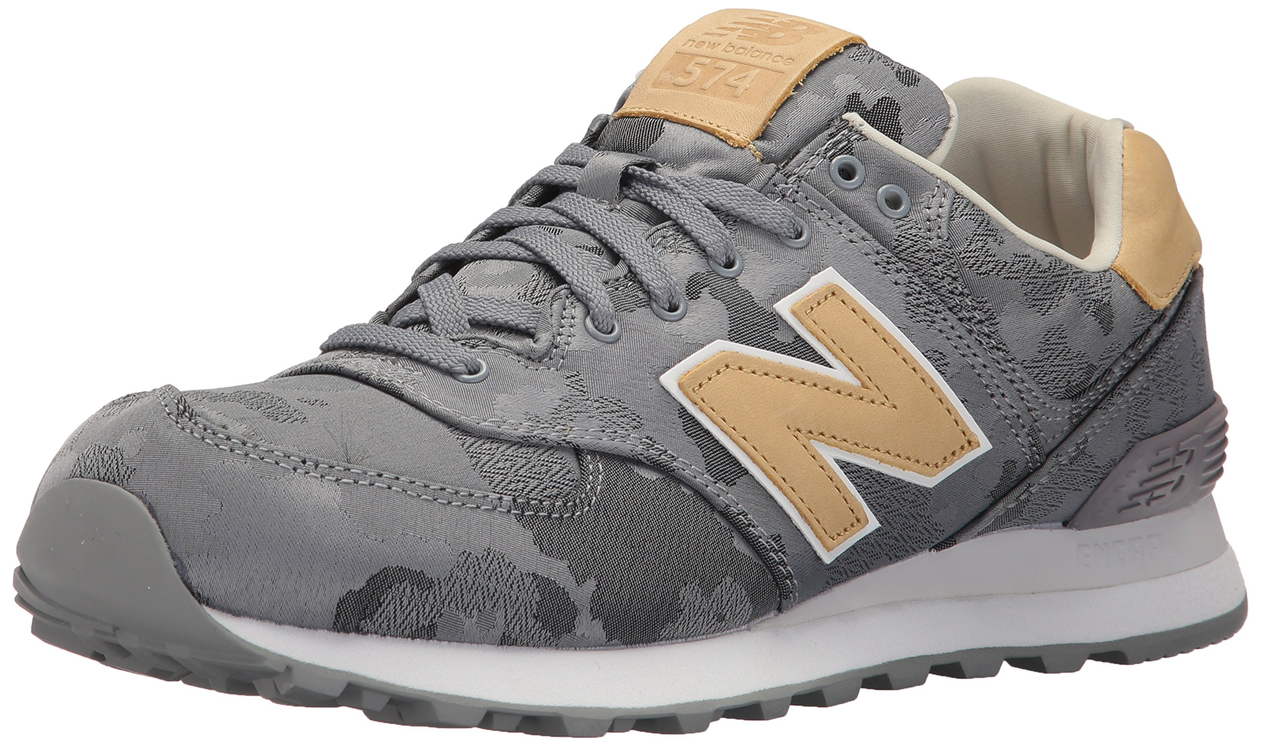 New Balance Men's 574 Cameo Pack Lifestyle Fashion Sneaker, Steel/Toasted Coconut, 10.5 D US