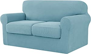 Ouka Couch Slipcover with Separate Cushion,3-Piece High Strench Couch Sofa Cover and Washable Furniture Protector
