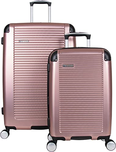 Ben Sherman Norwich Collection Lightweight Hardside PET Expandable 8-Wheel Spinner Luggage, Rose Gold, 2-Piece Set 20 28