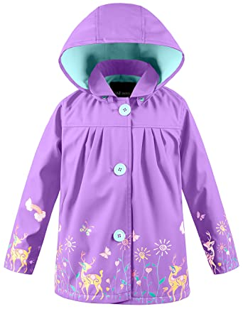 523dc6910 Wantdo Girl s and Boy s Lightweight Removable Hooded Raincoat ...