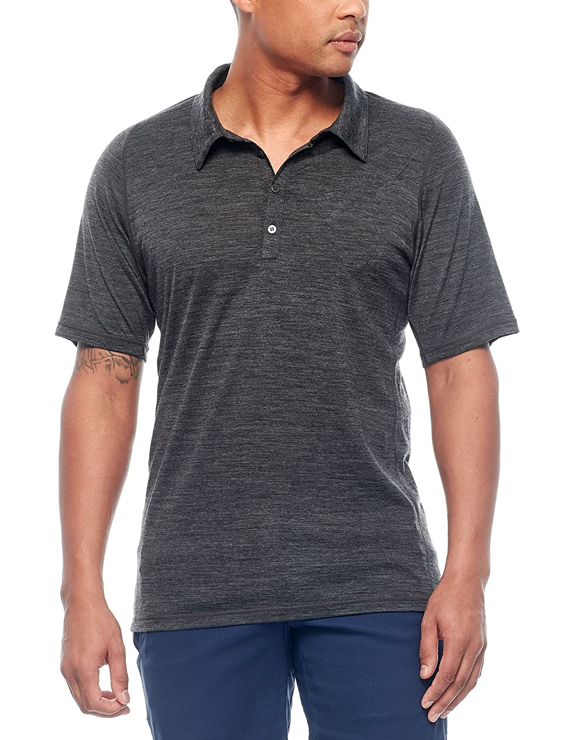 Icebreaker Merino Mens Cinco Short Sleeve Polo Shirt Merino Wool