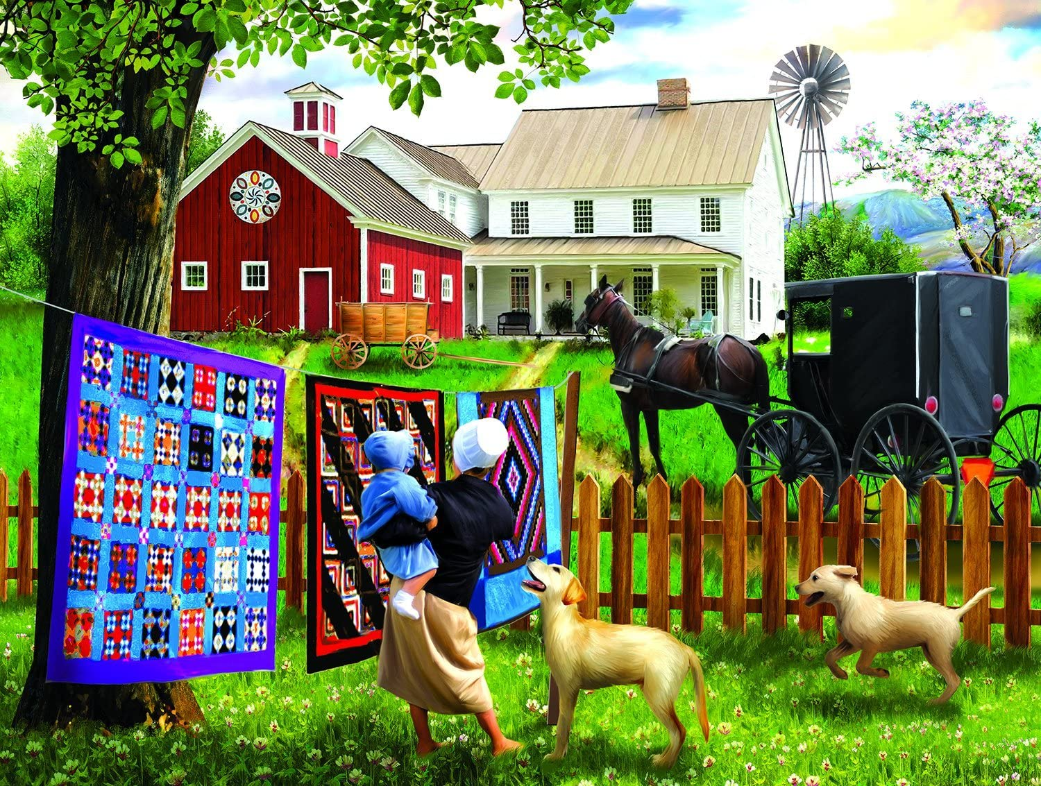 Family Homestead 500 pc Jigsaw Puzzle by SunsOut
