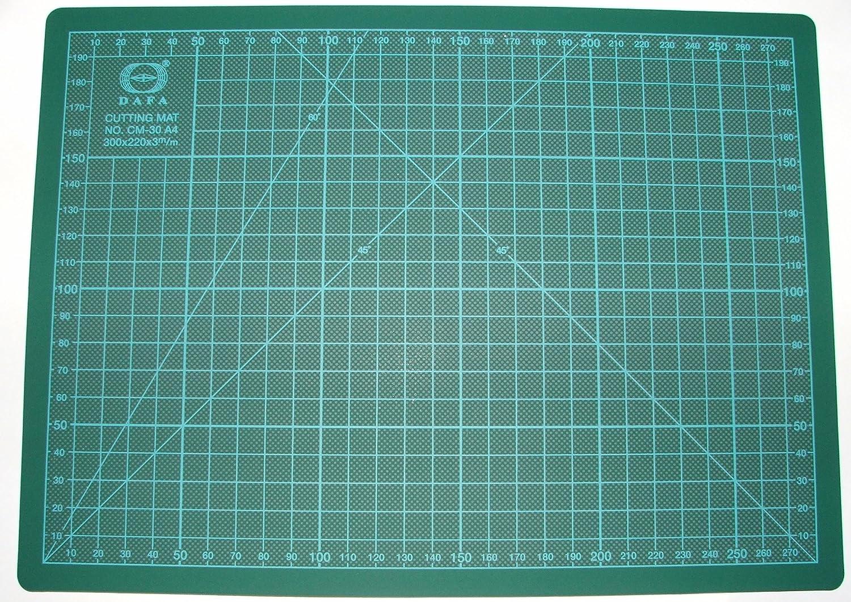 DAFA 12 x 8-inch A4 Rotary Cutting Safety Mat, Green A4 dafa mat