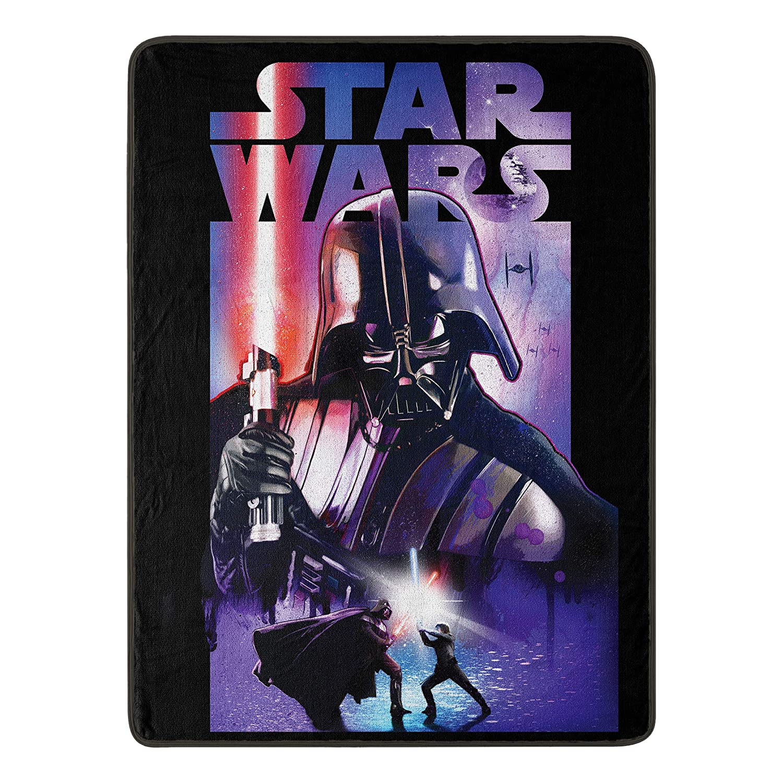 "Disney Star Wars, ""Darth Night"" Micro Raschel Throw Blanket, 46"" x 60"", Multi Color"