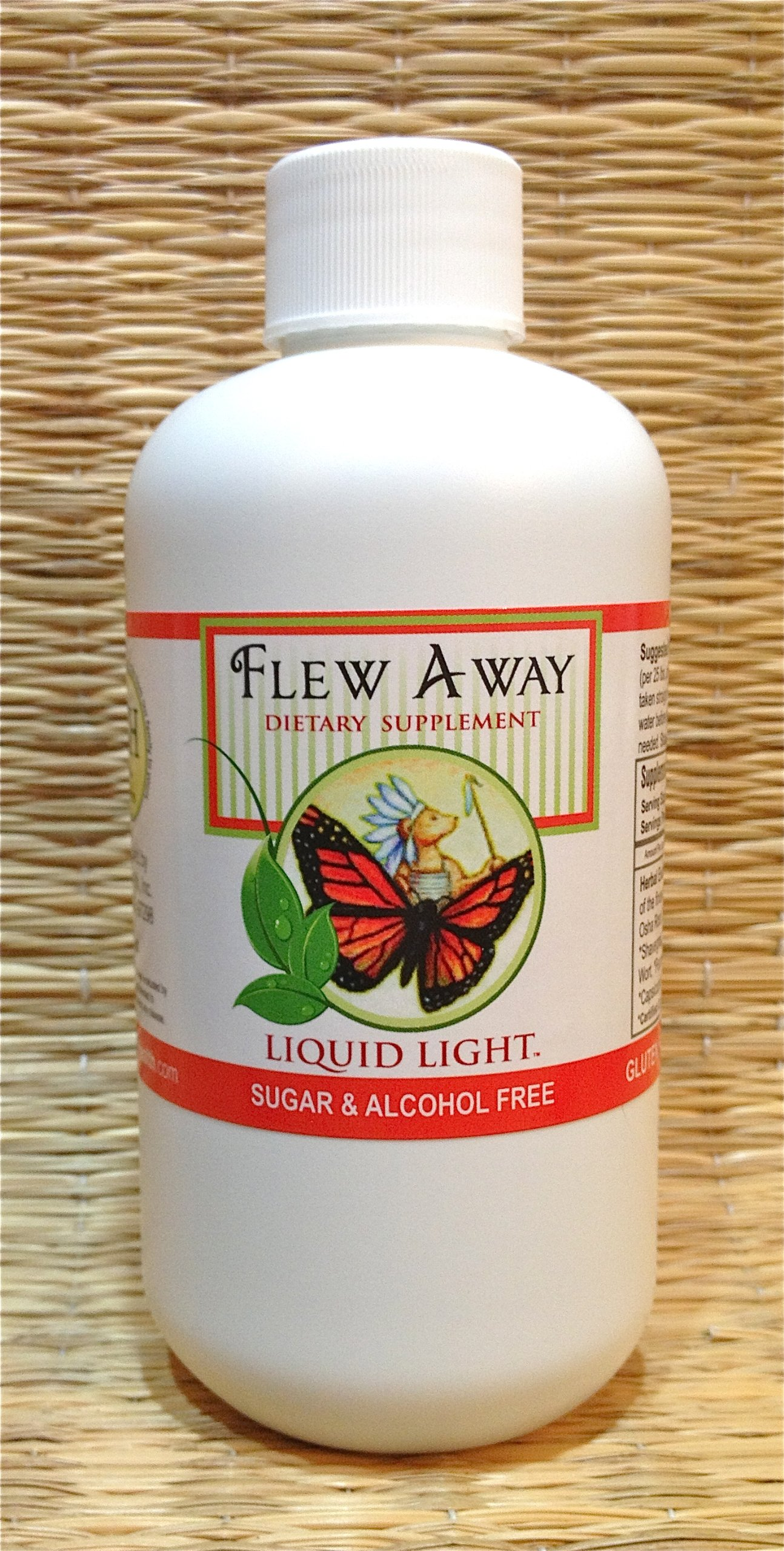 Flew Away (8 oz Bottle) - Cold Season Help with Ear Infections, Coughing, Respiratory, Child Safe Too. Herbal Extract. Alcohol Free. Used Safely and Effectively for Over 20 Years.