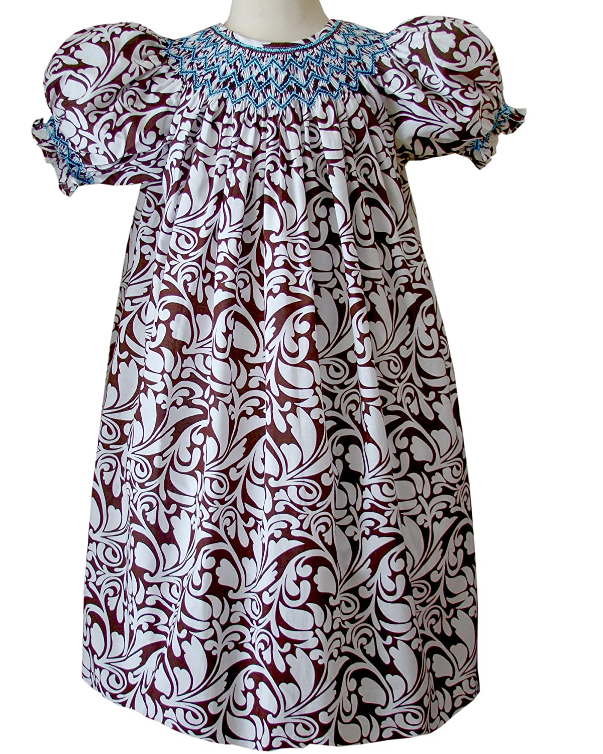 2b72c78d58e9 Amazon.com: Carouselwear Toddler Girls Smocked Bishop Dresses for Fall and  Thanksgiving: Clothing