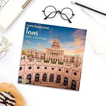 Lonestar Calendar 2021 Amazon.: 2021 Home Sweet Home Texas Wall Calendar by Bright