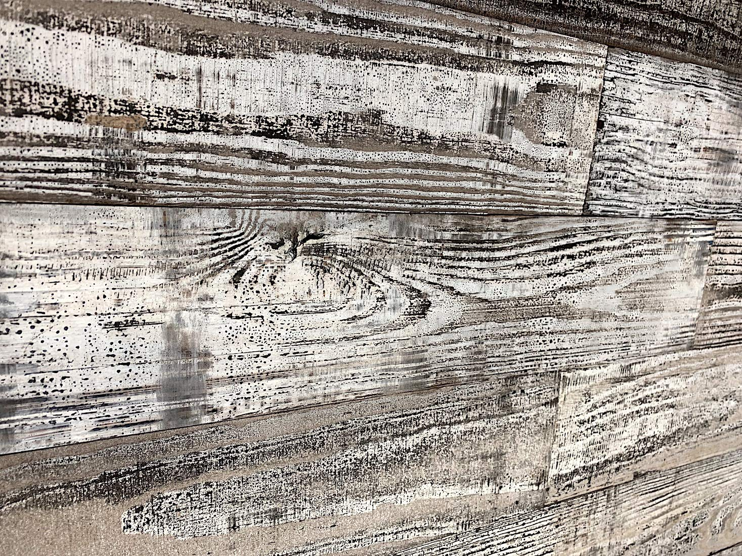 Smart Paneling 11338 Village Accent Wall Wood Planks Whitewash 14 Piece Holey Wood Studio