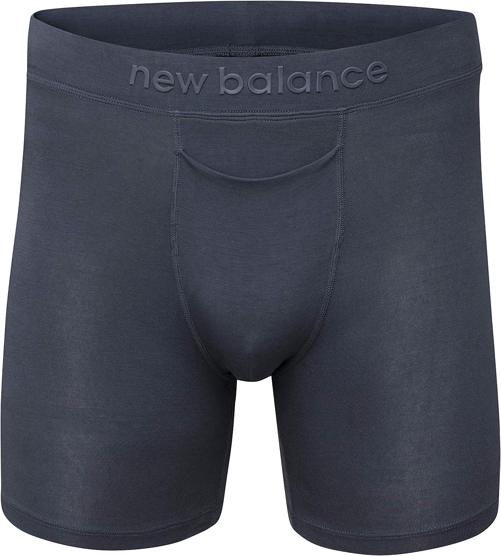 """New Balance Men's Modal 6"""" Inseam Boxer Brief Underwear"""