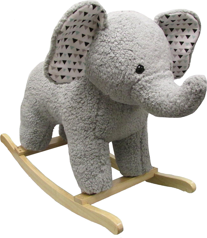 Large Rocking Horse – Plush Elephant Rocker for Kids