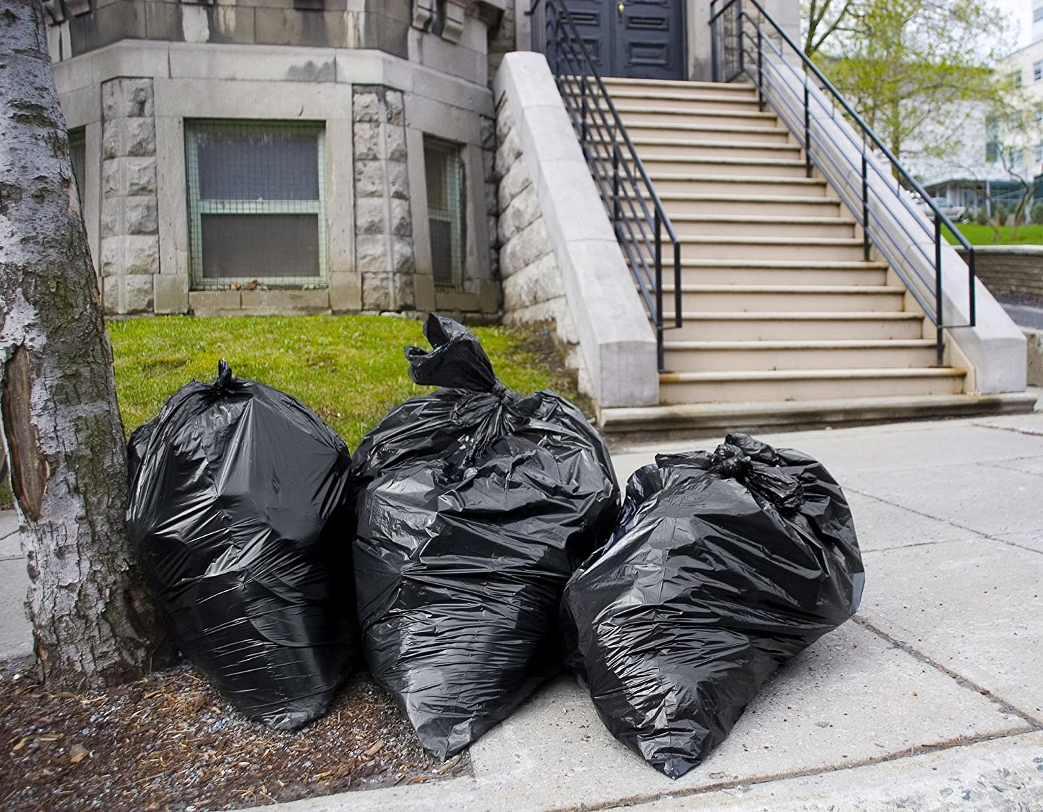 by Tasker 61W x 68H Equivalent to 2 Mil Strength Extra Large Garbage Bags 95 Gallon Trash Bags 25//Case