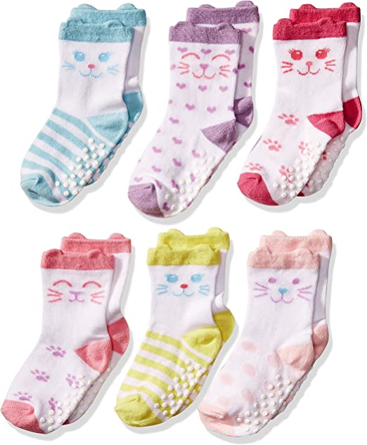 Toddler Kids Girls Boys Fun Novelty Cotton Socks Non-Slid 4Pack