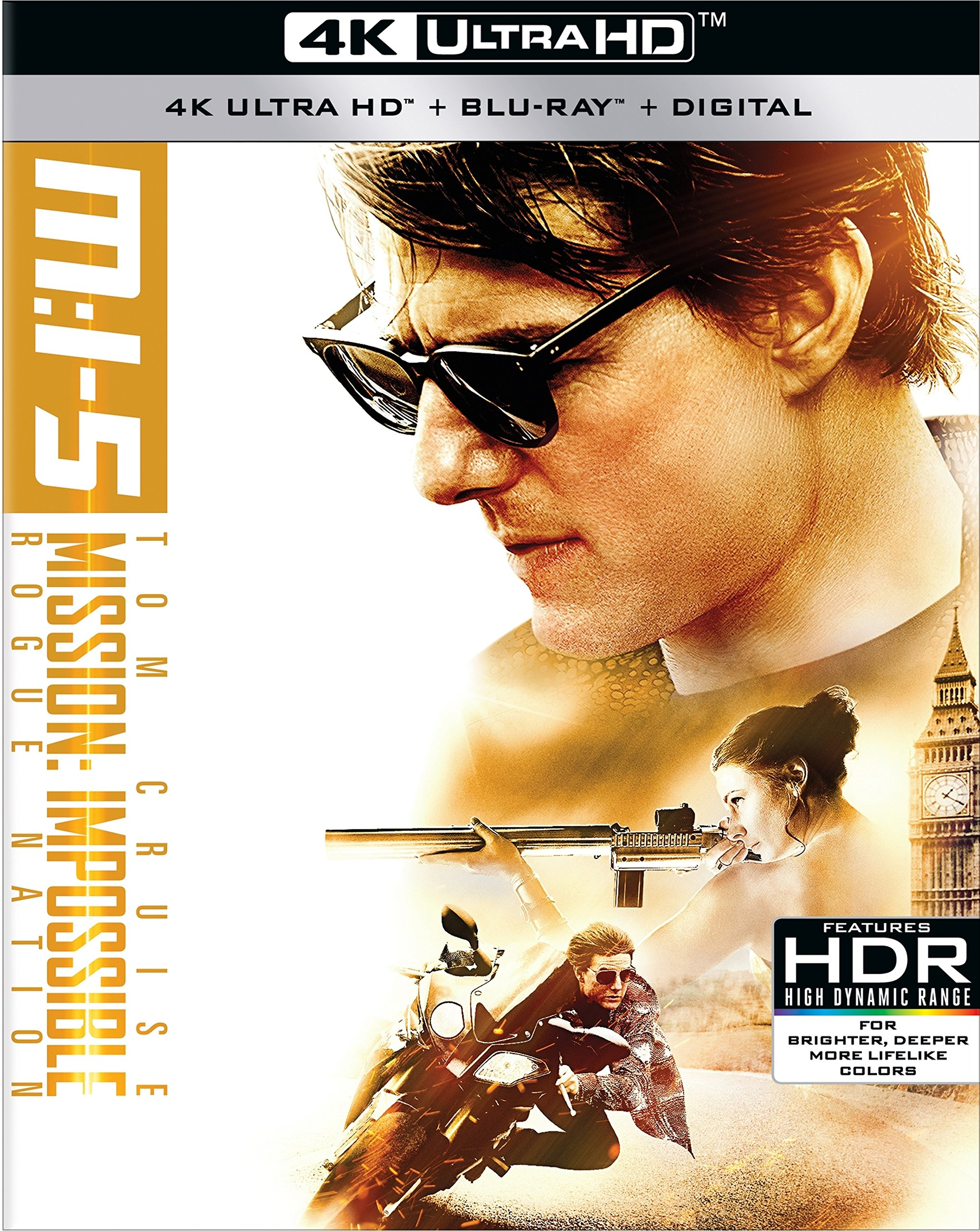 4K Blu-ray : Mission: Impossible: Rogue Nation (With Blu-Ray, 4K Mastering, Dolby, AC-3, 3 Pack)