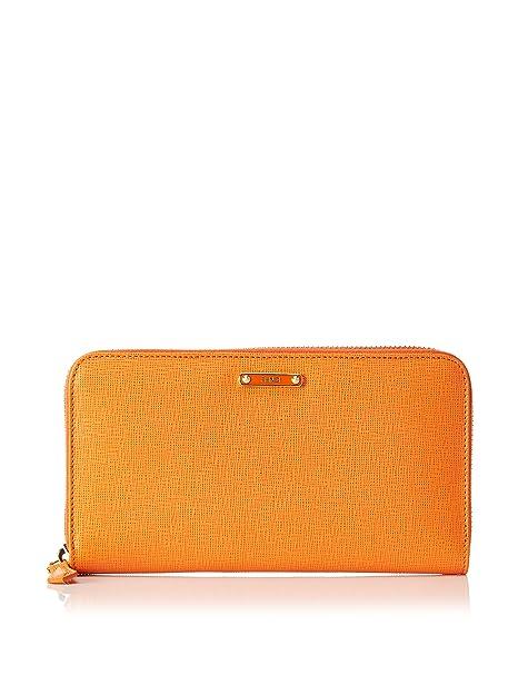 Fendi Cartera Zip Around Wallet Naranja: Amazon.es: Zapatos y complementos