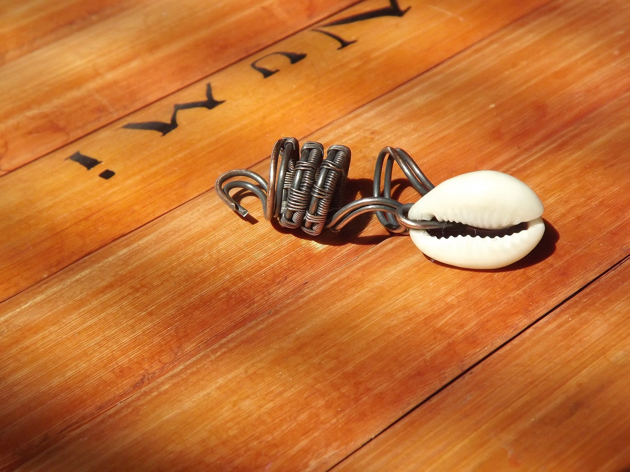 Wire Wrapped Cowrie Shell Loc Jewelry Dreadlock Bead Hair Accessories Loc Adorment