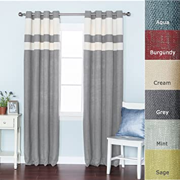 Amazon.com: Best Home Fashion Striped Heavyweight Textured Faux ...